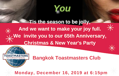 65th Anniversary, Christmas and New Year's Party