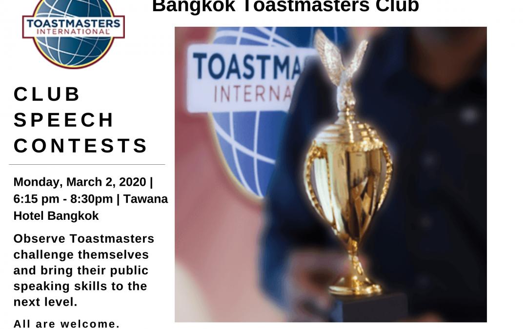 Club Speech Contests